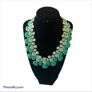 Green Ombré Cara NY statement necklace